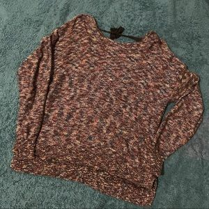UO marled rainbow knit tie back sweater